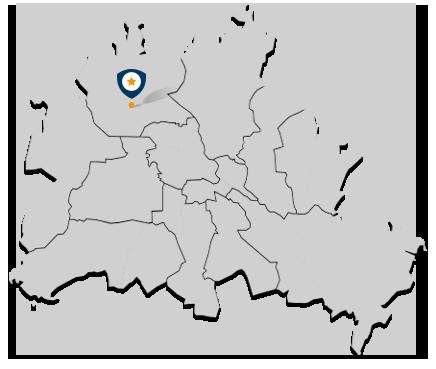 Karte Berlin mit CLAUS-Hausverwaltung